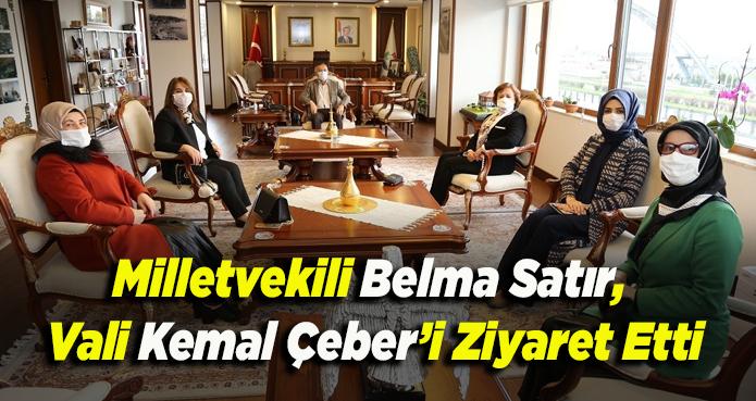 RİZE VALİSİ ÇEBER'E VEKİL SATIR ZİYARET ETTİ
