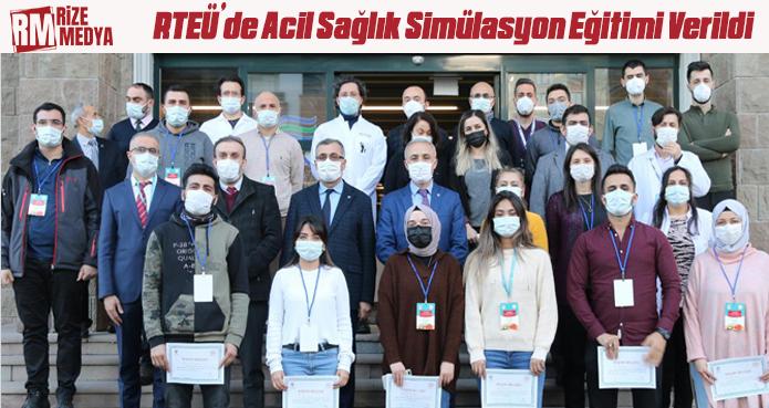 RTEÜ'DE SİMÜLASYON EĞİTİMİ VERİLDİ