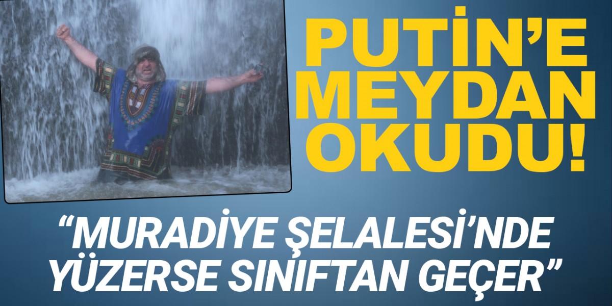 Çılgın fotoğrafçıdan Putin'e, Türkiye'deki şelalelerin buzlu sularına girme daveti