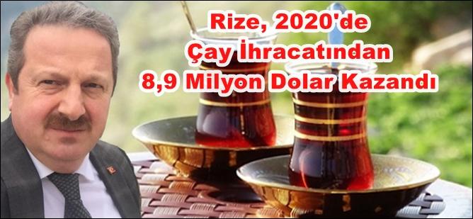 Çay İhracatından 8,9 Milyon Dolar Kazandı