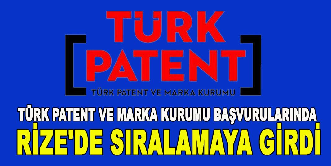 Patent başvuru sayısının en yüksek olduğu iller arasında Rize'de var