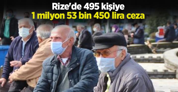 Rize'de, pandemi kurallarına uymayan 495 kişiye ceza