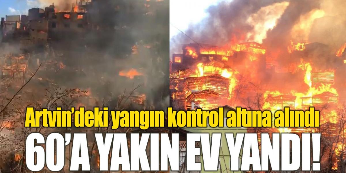 Yusufeli'ndeki yangın kontrol altına alındı