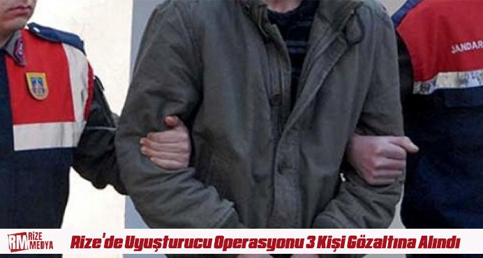 Rize'de Uyuşturucu Operasyonu 3 Kişi Gözaltına Alındı