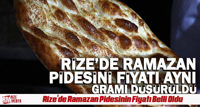 Rize'de Ramazan Pidesinin Fiyatı Belli Oldu