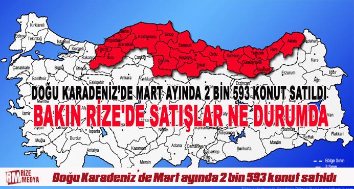 Doğu Karadeniz'de Mart ayında 2 bin 593 konut satıldı