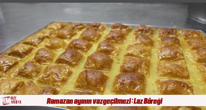 Ramazan ayının vazgeçilmezi börek görünümlü tatlı: Laz Böreği