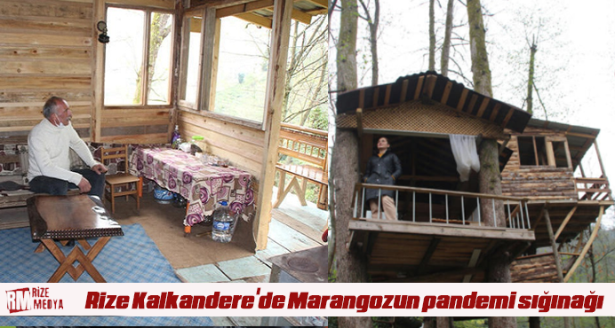 Rize Kalkandere'de Marangozun pandemi sığınağı