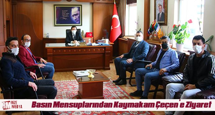 Basın Mensuplarından Kaymakam Çeçen'e Ziyaret
