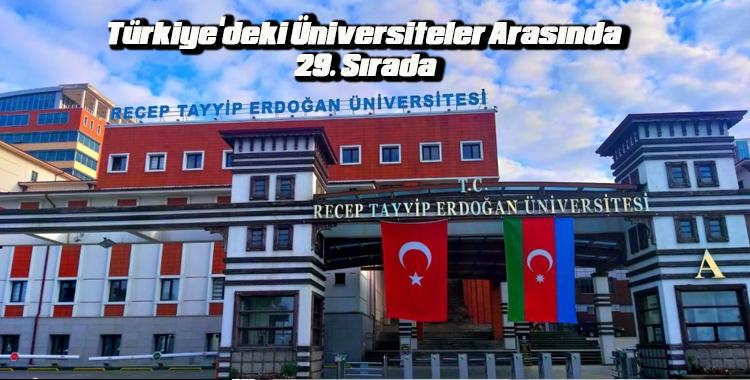 RTEÜ Türkiye'deki Üniversiteler Arasında 29. Sırada
