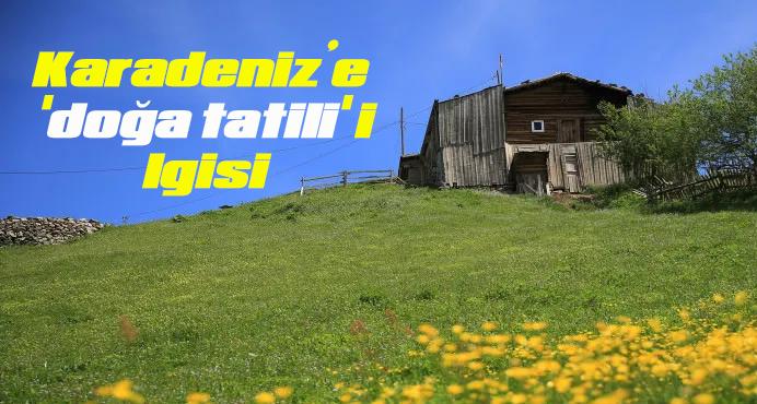 Karadeniz'e 'doğa tatili' ilgisi