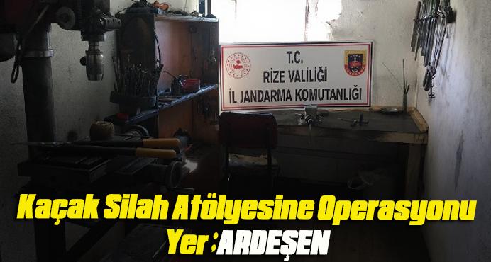 Ardeşen'de Kaçak Silah Atölyesine Operasyon