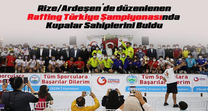 Rafting Türkiye Şampiyonasında Kupalar Sahiplerini Buldu