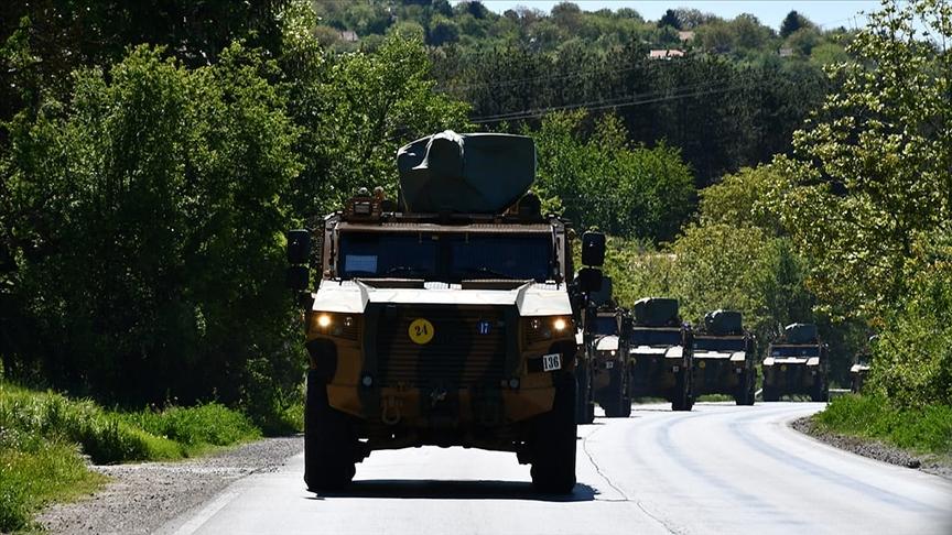 'Steadfast Defender 21' NATO tatbikatı için yola çıkan birlikler Bükreş'e ulaştı