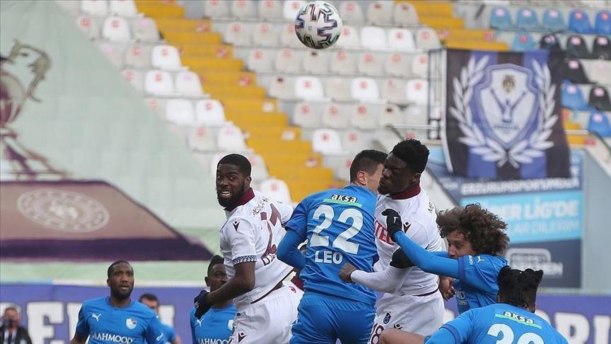Trabzonspor Erzurum'dan 1 puanla dönüyor