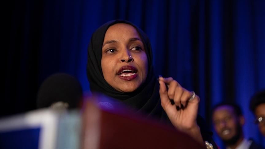 ABD ve İsrail'i Hamas ve Taliban ile kıyaslayan Demokrat Vekil Omar, İslamofobik tepkilere maruz kaldı