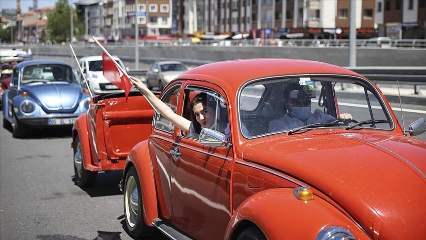 Ankara'da '102 vosvos'la 19 Mayıs konvoyu oluşturuldu