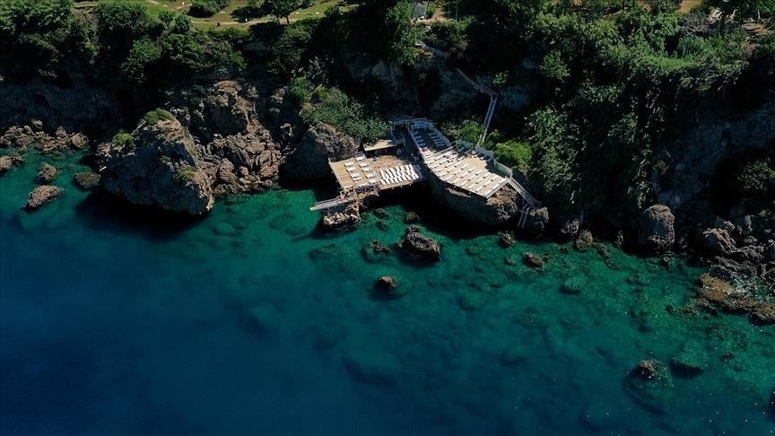 Turizmin başkenti Antalya'da Falez plajları sezona hazır