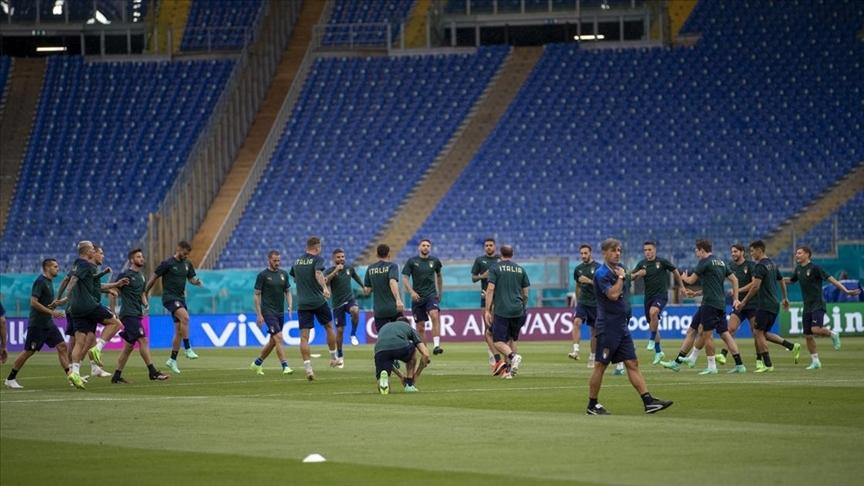 İtalya Milli Takımı, Türkiye maçı öncesi son antrenmanını yaptı