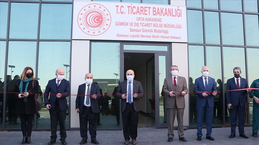 Samsun Lojistik Merkezinin Mobil Gümrük Noktası hizmete açıldı