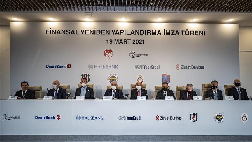 Dört büyük kulüp ile bankalar arasında Finansal Yeniden Yapılandırma Sözleşmesi imzalandı