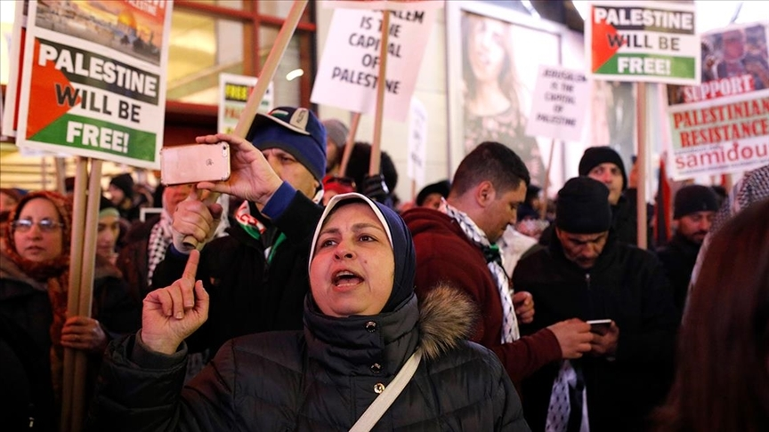 Amerikalı Müslümanlardan İsrail'e Kudüs'te Filistinlilere uyguladığı şiddet nedeniyle tepki