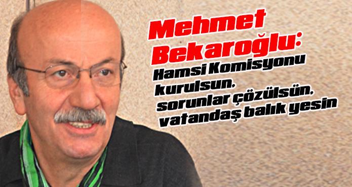 Bekaroğlu: Hamsi Komisyonu kurulsun, sorunlar çözülsün, vatandaş balık yesin
