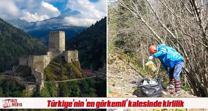 Türkiye'nin 'en görkemli' kalesinde kirlilik