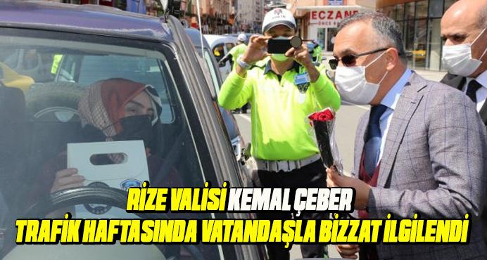 Rize Valisi Kemal Çeber;düzenlenen etkinliklere katıldı.