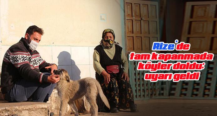 Rize'de tam kapanmada köyler doldu; uyarı geldi