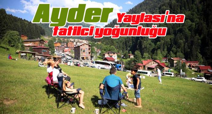 Ayder Yaylası'na tatilci yoğunluğu